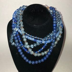 Loft dazzling blue layered necklace